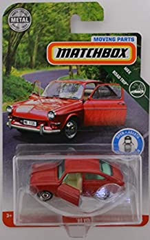 Matchbox Red  65 Volkswagen Type 3 Fastback 2018 Moving Parts Road Trip Series 1 64 Scale Collectible Die Cast Metal Toy Car Model with Opening Doors