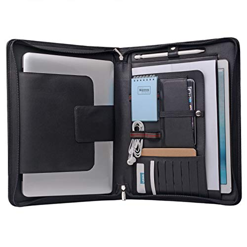 Capa organizadora para laptop para Surface Book 2/MacBook Pro 15 polegadas, MacBook Laptop Folio Case com bolso organizador
