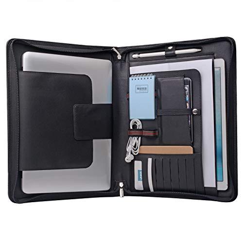 Laptop Portfolio Organizer Hülle für Surface Book 2/MacBook Pro 15 Zoll, MacBook Laptop Folio Case mit Organizer Tasche