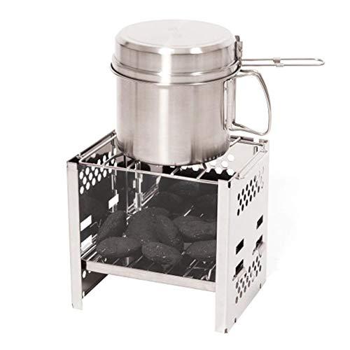 Grillgestell Herdgestell, faltbares Mini-Ofengestell aus Edelstahl, zum Grillen
