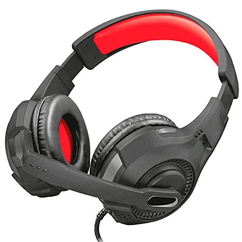 Trust Gaming Headset GXT 307 mit Mikrofon für PS4, PS5, PC, Nintendo Switch, Xbox Series X, Xbox One - Ravu Kabelgebundene Gaming-Kopfhörer mit Einstellbarem Kopfbügel - Schwarz