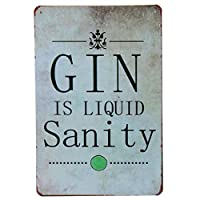 30X20cm Hope Love Life Family GIN Tin Sign Tintin Bar Pub Cafe Signs Wall Decor Vintage Metal Plaque Rerto Plate Poster