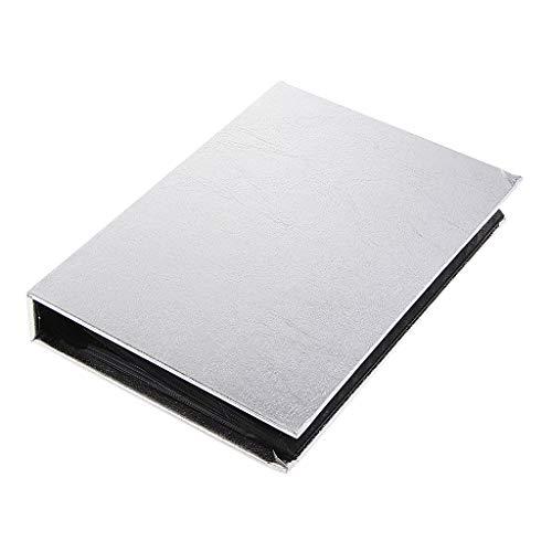 FLAMEER 30 Seiten Klar / 120 stücke Kapazität Nail Art Sticker Ordner/Fotoalbum/Bilder Display Organizer/DIY Scrapbook - Silber, 210 x 154 mm
