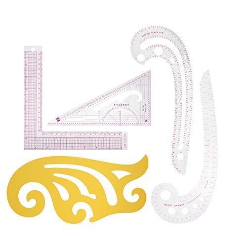 Coser regla de curva francesa, juego de regla de curva francesa, juego de regla de patrón de curva francesa, para dibujar, cortar, imposición, diseños de ropa, principiantes, sastres,
