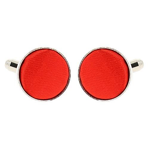 Boutons de Manchette Rouge pour Homme - Accessoire Poignet Chemise et Veste de Costume - Mariage, Cérémonie