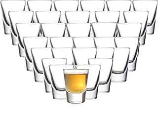 Circleware 042735 Huge Set of 36, Austria Shot Heavy Base Drinking Whiskey Glass Glassware Cups for Vodka, Brandy, Bourbon & Best Selling Liquor Beverages, Limited Edition (B00A1WPPUM) | Amazon price tracker / tracking, Amazon price history charts, Amazon price watches, Amazon price drop alerts