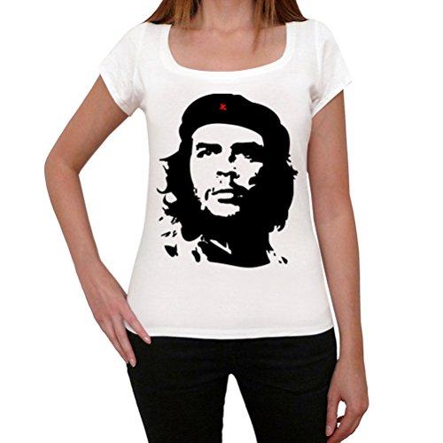 Che Guevara, La Camiseta de Las Mujeres, Manga Corta, Cuello Redondo, Blanco