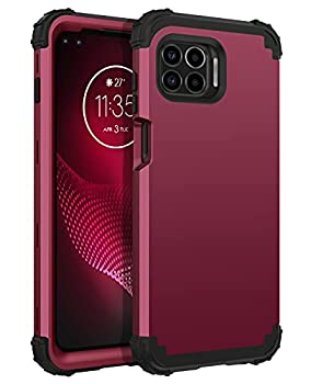 BENTOBEN Moto One 5G Case Moto G 5G Plus Case Moto One 5G UW Case 3 Layer Heavy Duty Rugged Bumper Shockproof Protective Phone Cover for Motorola Moto One 5G /G 5G Plus/One 5G UW 6.7  Wine Red