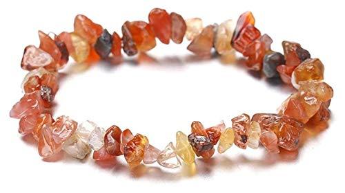 Pulsera de piedra, mujer, 7 chakra 8mm, perlas ámbar semipreciosas naturales, brazaletes elásticos irregulares, joyería, rogue, yoga, equilibrio de la energía, el encanto Reiki Pulsera de chakra