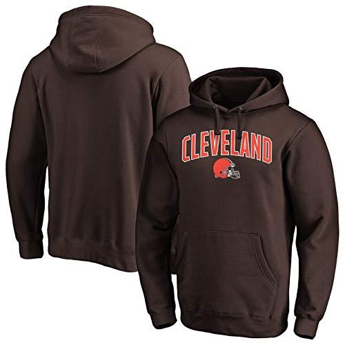 Herren Sweatshirt Cleveland Fan Hoodie Hockey Casual Tops mit den Taschen, Party Sport-Bekleidung Trainings Trikots Langarm-Sweatshirts,L