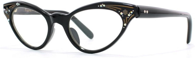 Euro Vintage 3 Black Authentic Women Vintage Eyeglasses Frame