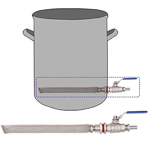 Tenuta all'Aria Kit Homebrew Senza saldature bollitore/barile Converti Schermo Kit Bazooka Birra Mash valvola a Sfera Multifunzione (Color : Silver)