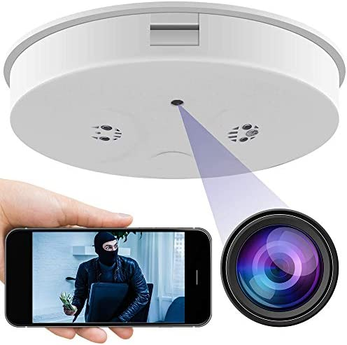 Smoke Detector Camera 1080P Wireless Security Camera Surveillance Cam for Home Office Store product image