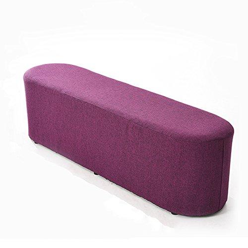LJHA Tabouret pliable Repose-pieds simple créatif / tabouret de sofa de chaise longue / tabouret de salon de bande / tabouret de queue de lit de chambre à coucher / changement tabouret de chaussures (4 couleurs facultatives) chaise patchwork ( Couleur : C , taille : 120CM )