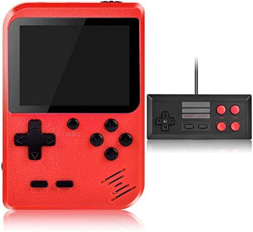 Consola de jogos portátil, consola de jogos retro com 400 jogos portáteis clássicos, com suporte para 2 jogadores e ligação de TV, bateria recarregável de 800 mAh