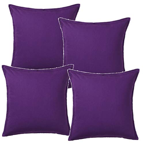 GURLI 004.437.81 Cushion Cover 50 x 50 centimetre Pack of 4 Dark Lilac