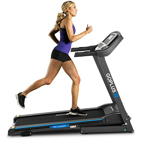 Why Choose Folding Electric Treadmill Motorized Power Running Machine Fitness with Rolling Wheels 12...