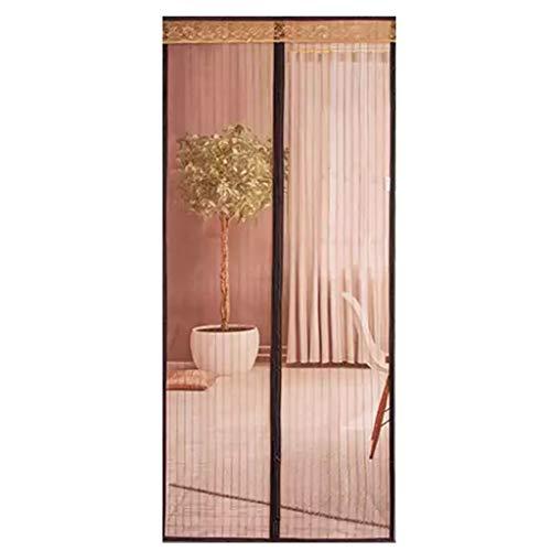 Magnetische horren voor ramen, voor balkondeur, terrasdeur, kelderdeur, woonkamer 70x200Cm(28x79Zoll) koffie