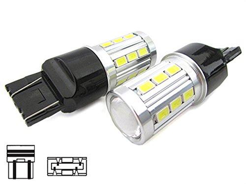 CARALL LS5421 Lampada LED Luci Diurne Super Bianco Luminoso T20 W21/5W 7443 Con 21 Smd 5730 - 2 Pezzi