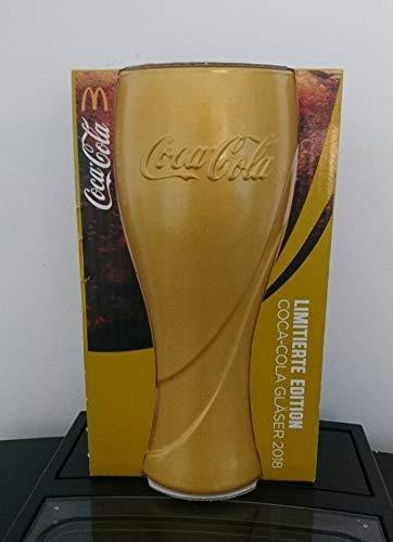 COCA Cola & Mc Donald´s - Edition 2018 - Gold Metallic - Glas 0,3 l.