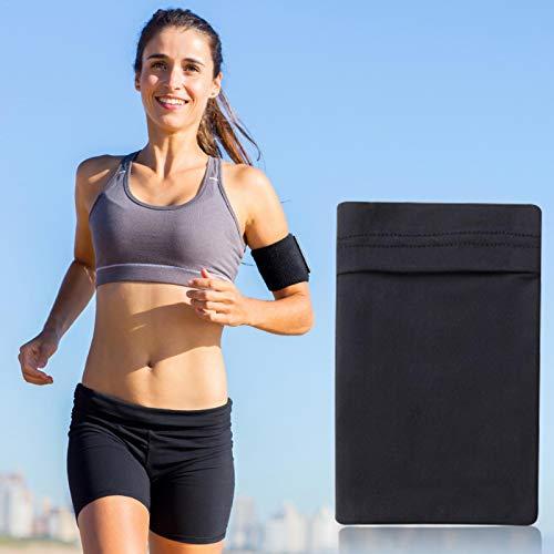 Bulary - Fascia da braccio per sport, corsa, braccio, tasca per telefono, custodia per chiavi, MP3, MP4, corsa, allenamento, ciclismo, escursionismo, jogging