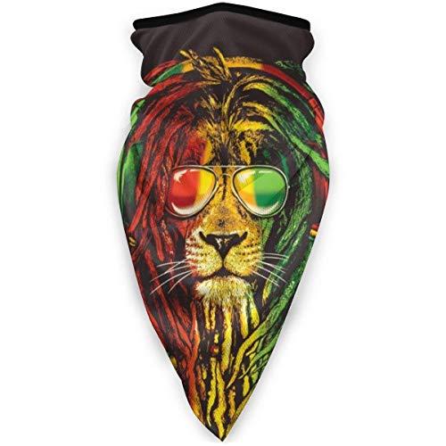 XCNGG Maschera Sportiva Antivento Passamontagna Sciarpa Scudo Rasta Vibe Leone con Occhiali da Sole Mezza Faccia Fascia Bandana Copricapo per Uomo Sciarpa Donna