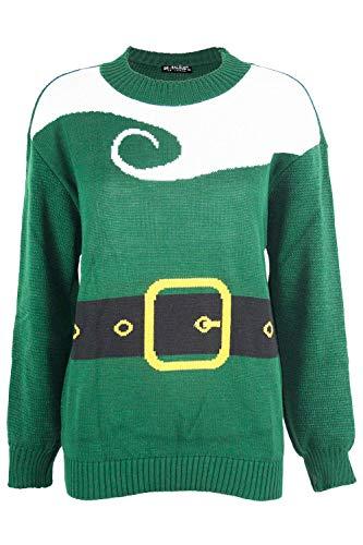 Fashion Star Womens Santa Claus Beard Costume Christmas Jumper Santa Costume Green Plus Size UK 16