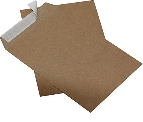50 St. Versandtaschen Briefumschläge B5 braun haftklebend ohne Fenster 176 x 250 mm HK
