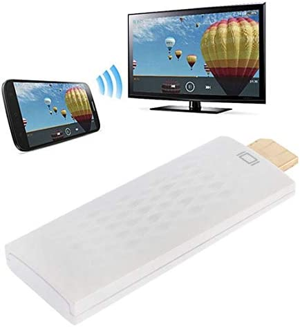 MECZENDYIM Streaming Media Players Wireless HDMI Miracast DLNA Display Dongle, CPU: ARM Cortex A9 Single Core 1.2GHz, Support WiFi + HDMI(Black) TV Monitor (Color : White)