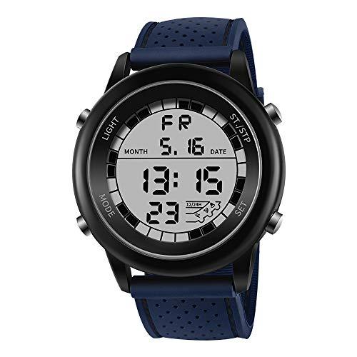 Sport Outdoor Outdoor Display Reloj Multifuncional Impermeable para Deportes al Aire Libre, Azul