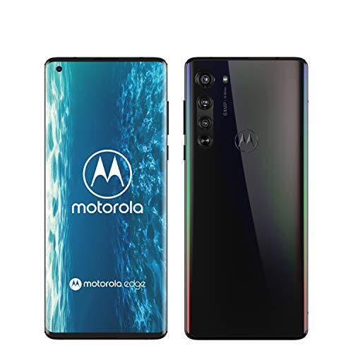 "Motorola Edge Smartphone 5G, 64MP, Display Endless Edge 6.7"" FHD+, Qualcomm Snapdragon Octa-Core SM765, Batteria 4500 mAh, Memoria 6/128 GB, Dual Sim, Android 10, Nero (Solar Black)"