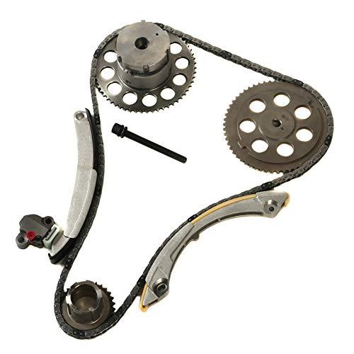 MOCA Engine Timing Chain Kit with Camshaft Gear for 2002-2004 Trailblazer & GMC Envoy & Buick Rainier & Oldsmobile Bravada 4.2L L6