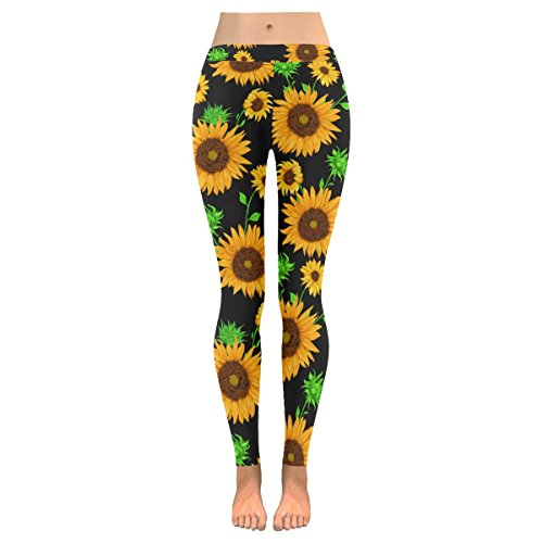 Summer Sunflowers Leggings for Yoga Running Pilates Gym
