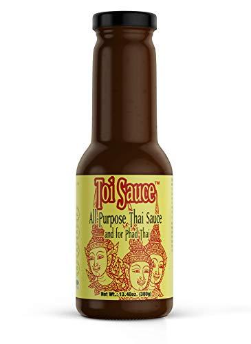 Toi Sauce Authentic Pad Thai Sauce, All Purpose Asian Stir Fry Sauce, Gluten Free 13.4 oz