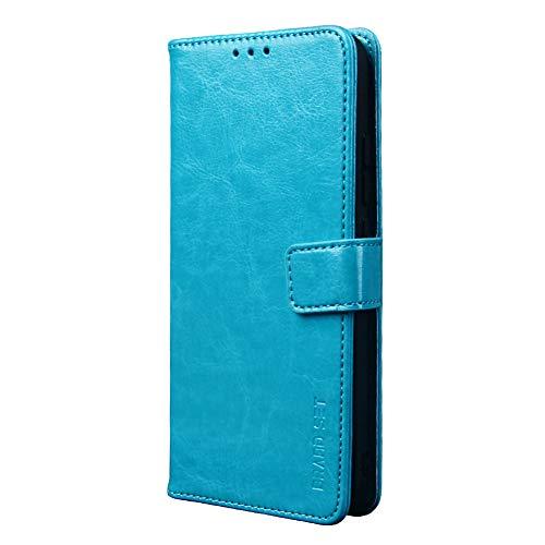 Handyhülle für ZTE Blade V2020 Hülle mit Kartenfach Magnetisch Premium Leder Flip Schutzhülle Tasche Hülle Brieftasche Etui lederhülle Kompatibel mit ZTE Blade V2020 -Blau