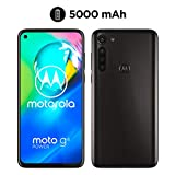 moto g8 power Dual-SIM Smartphone (6,4'-Max Vision-HD+-Display, 16-MP-Hauptkamera, 64 GB/4 GB, Android 10) Schwarz inkl. Schutzcover & KFZ-Adapter - exklusiv bei Amazon