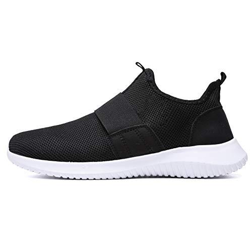 DAY.LIN schuhe herren Schuhe Ohne Schnürsenkel Herren Fitnessstudio Sport Mesh Atmungsaktive Elegant Freizeitschuhe Männer Weiße Sohle Stoff Laufschuhe