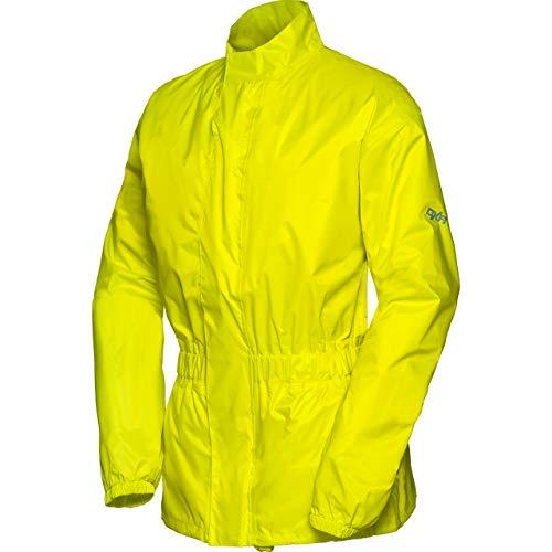 DXR Regenjacke, Regenschutz, Fahrrad Regenbekleidung Textil Regenjacke 1.0, Regenjacke wasserdicht, Unisex, wasserdicht durch verschweißte Nähte, inklusive Mini-Packsack, Polyester, Neon-Gelb, M