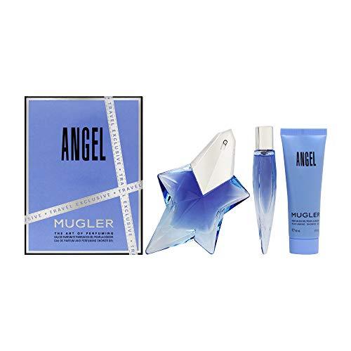 Thierry Mugler Angel By Thierry Mugler 3 Piece Gift Set - 1.7 Oz Eau De Parfum Spray, 0.3 Oz Eau De Parfum, 1.7 Oz Showe
