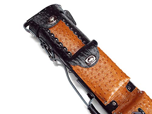 Vincitore Genuine Leather Ostrich Embossed Black & Brown 3 Butt 5 Shaft 3x5