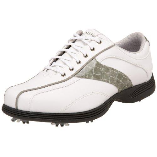 Callaway Women's Savory Golf Shoe,White/Silver,8 M US