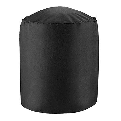 Jun Waterproof BBQ Grill Barbeque Cover Outdoor Rain Grill Barbacoa Anti Dust Protector for Gas Charcoal Electric Barbe,Black,27.5x27.5inch
