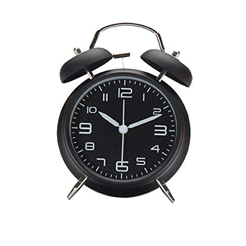 Daity wekker met nachtlampje, wekker, op batterijen, alarm, retro design, geruisloos