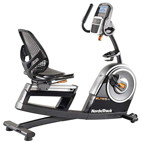 NordicTrack Elite 5.4 Recumbent Exercise Bike with 5in Display | 25 Resistance Levels and Walk-Through Design