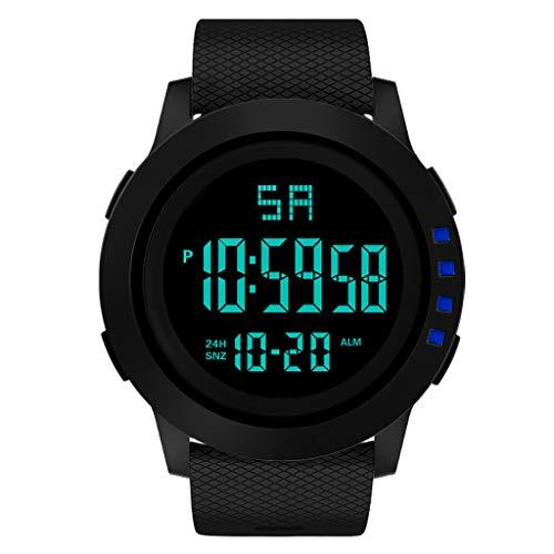 ZIMUUY Montre de Sport,Montre-Bracelet imperméable du Sport LED de Sport Militaire analogique numérique d'hommes de Luxe(Free,Bleu)