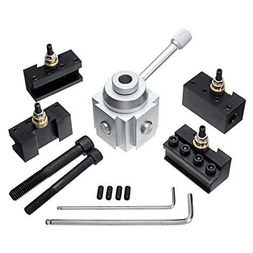 XUSHEN-HU Herramientas Quick Mini Cambio Herramienta Post Holder Aleación de Aluminio Torno Herramienta Torno Accesorios Taladro