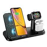 Wonsidary Wireless Charger Ständer, Wireless Ladestation 3 in 1 für iPhone AirPods Apple Watch...