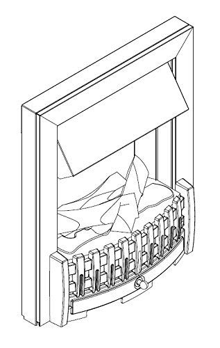 Glen Dimplex EWT 202550 – Chimenea eléctrica opti-myst DANVILLE, color negro