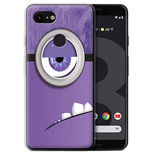 Stuff4 beschermhoes/Cover/Caso/Gel/TPU/Prottetiva bedrukt met Moda-design voor Google Pixel 3 - Cartoon Wekker/Monster
