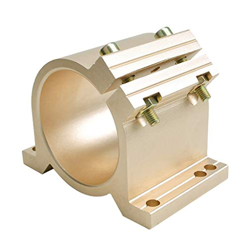 LoveinDIY CNC Spindle Clamp 65MM 80mm Mounting Bracket For Spindle Motor Gold/Silver - 65mm Gold